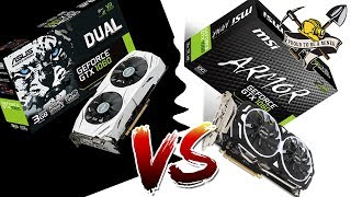 бАТЛ ASUSU GTX 1060 3GB против  MSI ARMOR GTX 1060 3GB - Кто лучше в майнинге?