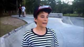 Austin Foster Huge Gap to Flat [Idaho Falls Skatepark]