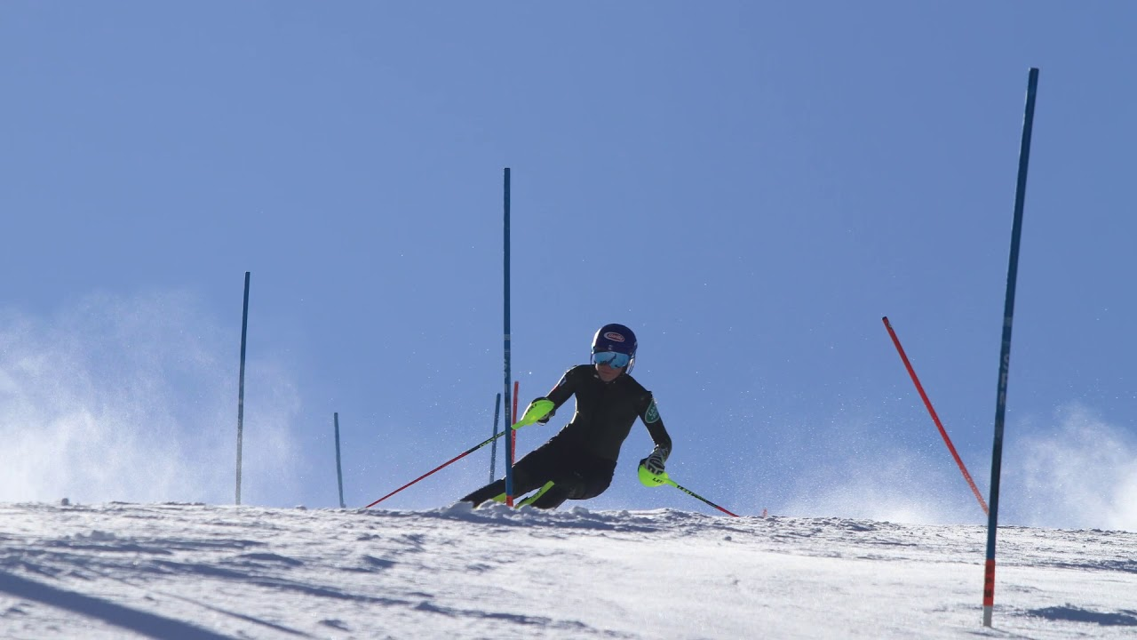 Exclusive footage of Mikaela Shiffrin Skiing Slalom at Aspen Highlands October 2019
