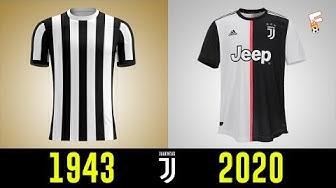 All Juventus Football Kits History 1943 - 2020 ⚽ Juventus Shirts History ⚽ Footchampion