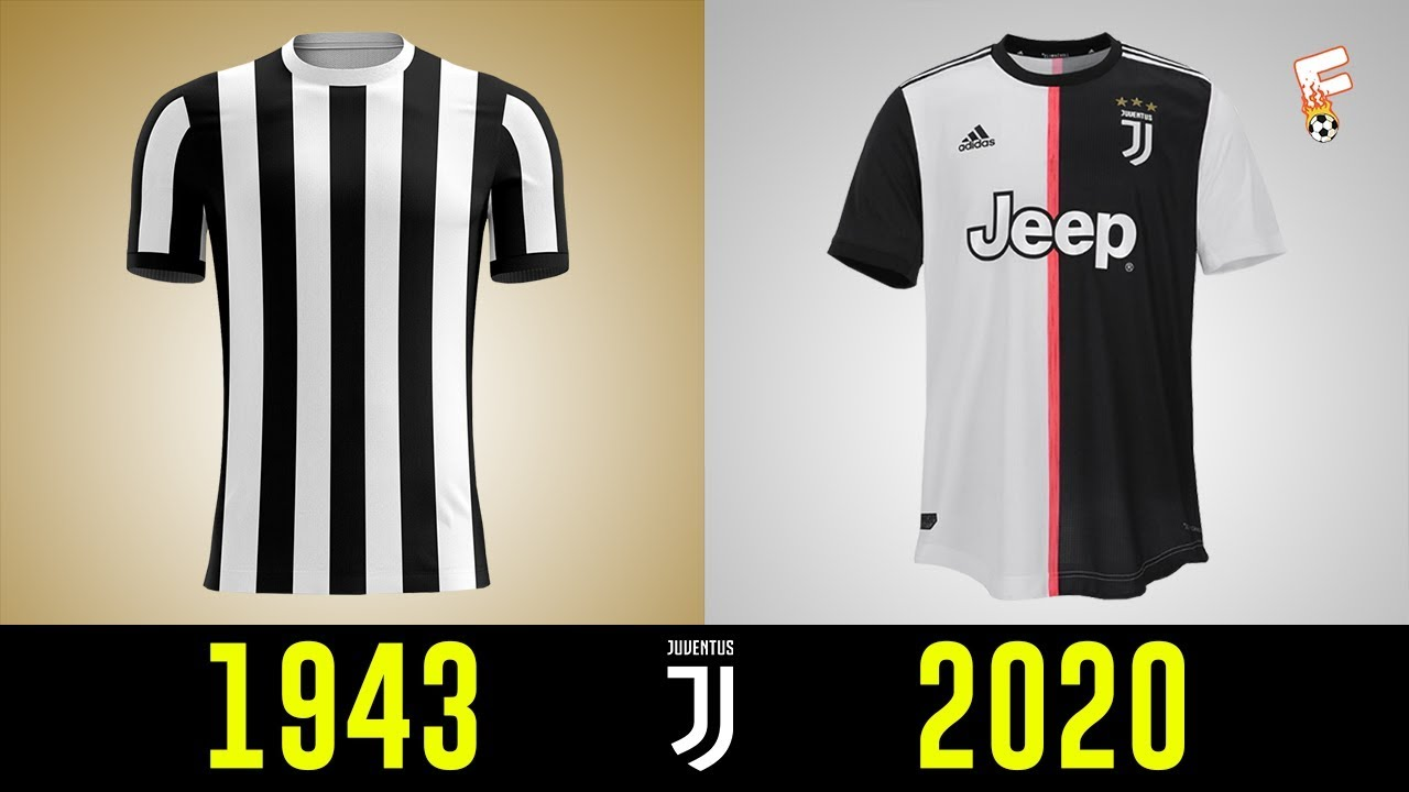 new style 49967 b8760 All Juventus Football Kits History 1943 - 2020 ⚽ Juventus Shirts History ⚽  Footchampion