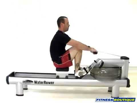 Rameur WATERROWER M1 HiRise - YouTube
