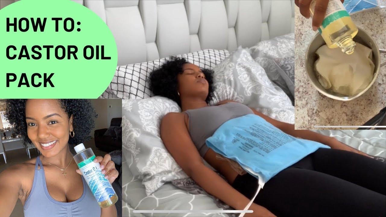 Packs d'huile de ricin pour périodes lourdes, fibromes - YouTube
