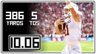 Sam Ehlinger Full Highlights Texas vs Oklahoma || 10.06.18 || 376 Total Yards, 5 TDs