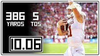 Sam Ehlinger Full Highlights Texas vs Oklahoma || 10.06.18 || 376 Total Yards, 5 TDs
