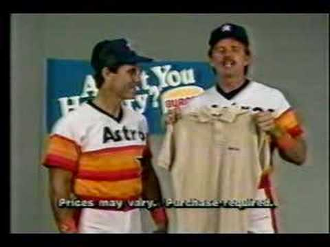Houston Astros and Burger King Commercial