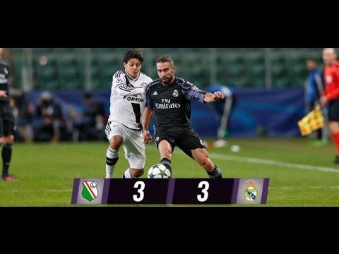 Download All Goals & Highlights, Legia Warsaw vs Real Madrid 3 - 3 UCL 2016