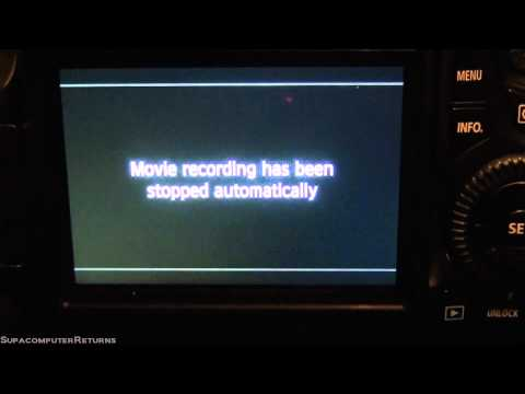 Error message, Movie recording has been stopped automatically, Canon EOS 60D DSLR Camera