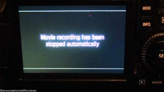 Error message, Movie recording has been stopped automatically, Canon EOS 60D DSLR Camera(The error message,