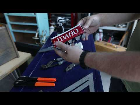 How To Make A Metal Box Out Of An Old License Plate