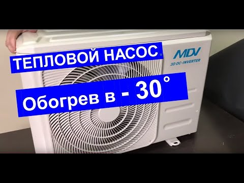 Тепловой насос «Воздух - Воздух» марки MDV (Midea, Китай). Отопление дома кондиционером зимой.