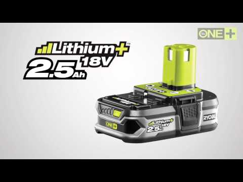 Ryobi ONE+ 18V 2.5AH Lithium+ Battery Introduction video