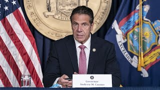 Cuomo snaps at reporters during tense COVID briefing where he learns NYC schools were closing