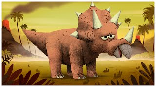 If you can count to three, you can easily spot a Triceratops. One, ...