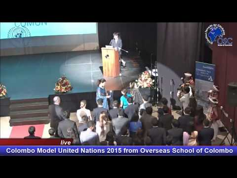 COMUN 2015 Opening Ceremony @ Overseas School of Colombo