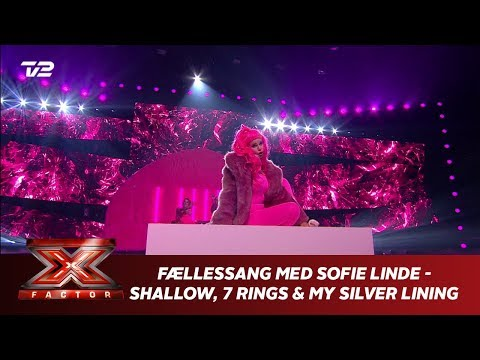 Fællessang med Sofie Linde -  Shallow, 7 Rings & My Silver Lining' (Live) | X Factor 2019 | TV 2