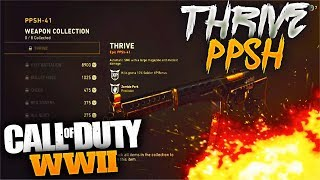 COMPLETING MY FIRST COLLECTION IN CALL OF DUTY WWII (HOW TO GET THE EPIC THRIVE PPSH IN COD WWII)