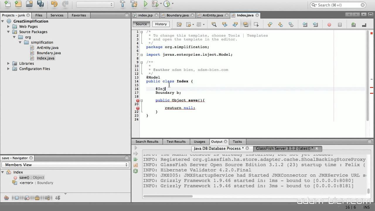 Great Simplification With EJB [ Screencast ] : Adam Bien's Weblog