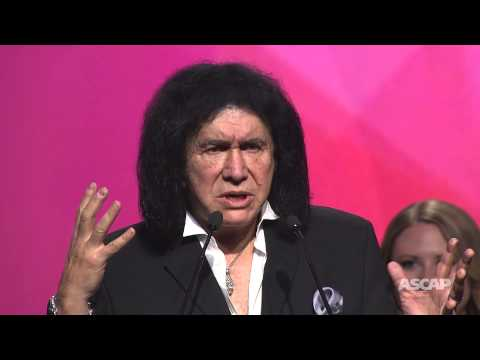 KISS accepts the ASCAP Founders Award - 2015 ASCAP Pop Awards