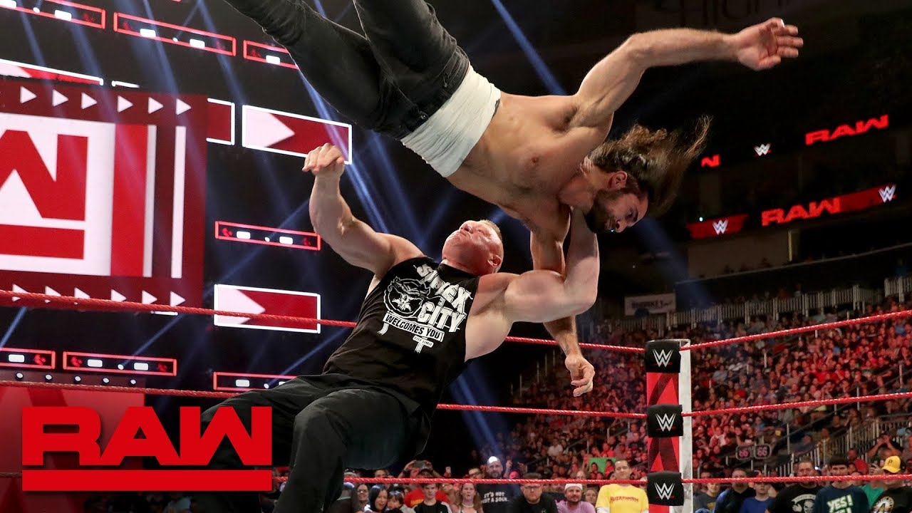 Seth Rollins stands up to Brock Lesnar despite injury: Raw, Aug. 5, 2019