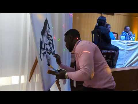 PAINTING AT THE BANK OF GHANA.