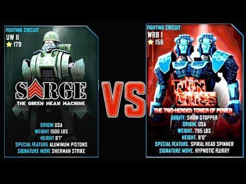 REAL STEEL WRB FINAL Sarge VS Twin Cities (CHAMPION) New Robots UPDATE (Живая Сталь)