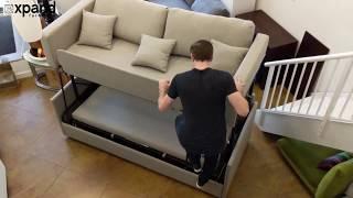 Dormire Sofa Bunk Bed Transformer Demonstration Youtube
