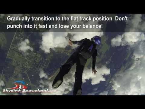 Flat Tracking Technique for Skydivers