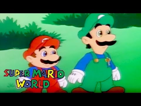 Super Mario World | A LITTLE LEARNING | Super Mario Brothers | Cartoons For Kids