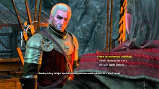 """The Witcher 3 - Battle Preparations: Avallac'h """"Find the Sunstone, Infiltrate Emphyr's Ship"""" Talk"""