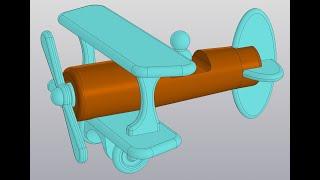 Видеоуроки Компас 3D V18. Сборка самолетика. 2 Фюзеляж