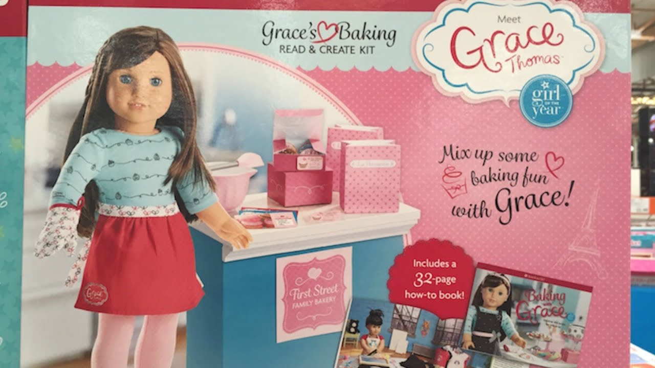American Girl Doll Book Grace s Baking Read   Create Playset Review ... 5ca6e3c26d