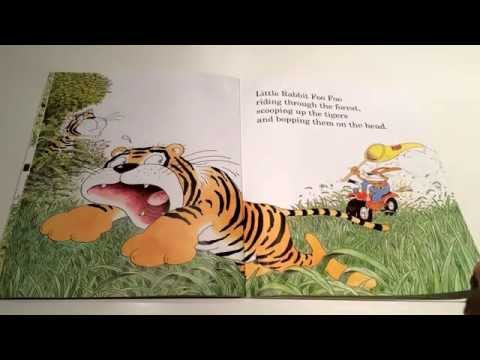 "Bertie ""reading"" Little Rabbit Foo Foo"