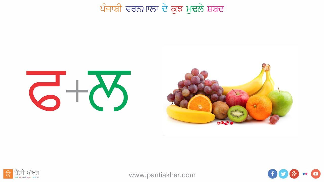 Punjabi Alphabet Vowels Mukta Youtube