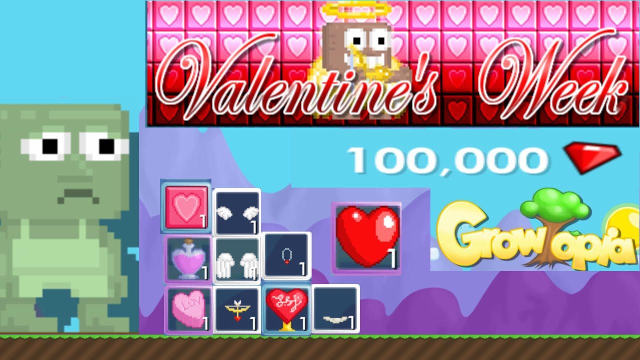 Growtopia | Valentine | Spending 100k | Breaking Heart Crystals   YouTube