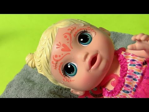 Baby Alive Face Paint Fairy Doll Dress Up Color Changing