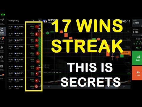 17 win streak without loss, use this easy strategy  binary options trading