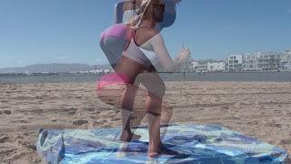 HOT Girls Doing Booty Squats! Beach Butt Workout! P1 v2