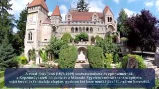 Bory-vár Székesfehérvár - Drone Video Hungary(The breathtaking Bory Castle was constructed by architect and sculptor Jenő Bory over a period of 40 years as a symbol of his eternal love for his wife. ▽More ..., 2014-09-02T11:58:24.000Z)