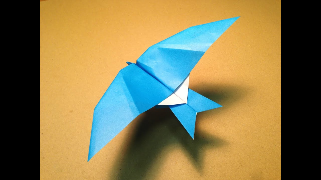 How To Make A Paper Plane Origami Bird Leach 39 S Storm