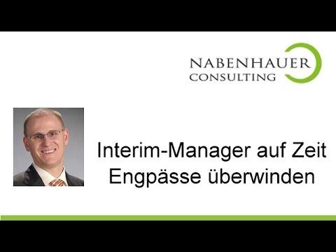 Interim Manager gesucht? Manager auf Zeit benötigt? Effiziente Lösungen bei Nabenhauer Consulting