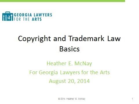 GLA Seminar: Copyrights & Trademarks