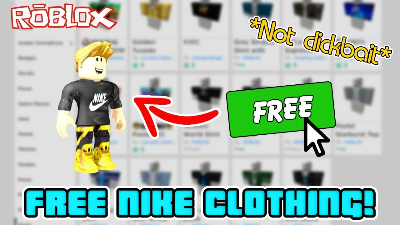 How To Get Free Nike Clothing In Roblox Not Clickbait Youtube