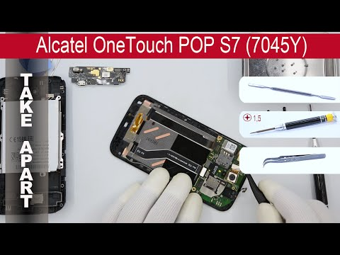 How to disassemble 📱 Alcatel One Touch Pop S7 7045Y Take Apart, Tutorial