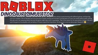 Roblox Dinosaur Simulator - WHY THERE ARE NO UPDATES IN DS! (FINALLY SOME ANSWERS!)