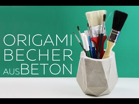 origami becher aus beton basteln anleitung youtube. Black Bedroom Furniture Sets. Home Design Ideas
