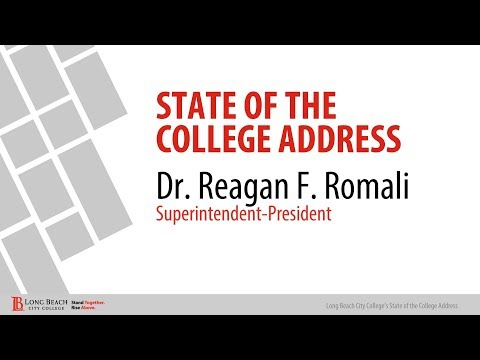 LBCC - Pres. Reagan Romali State of the College Address/2018