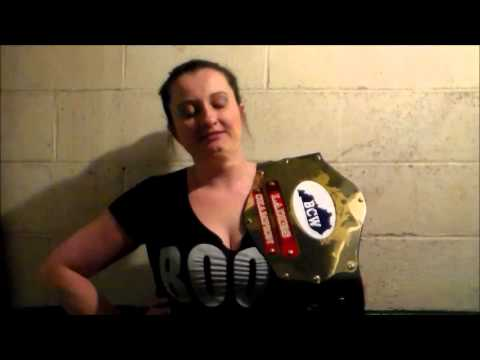 Michelle Meyers issues an open challange for her BCW ladies title.