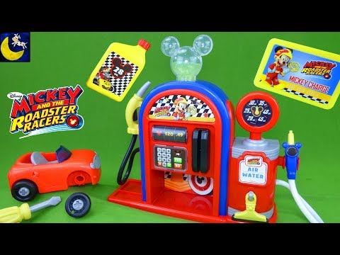 Mickey and the Roadster Racers Gas Station Play Set Race Car Toys