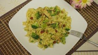 Makaron z Brokułem i Kurczakiem | Przepis na pyszny obiad z makaronem i brokułem